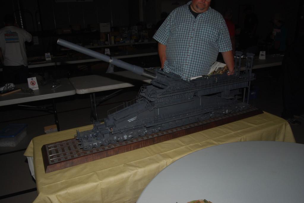 Krupp railway-mounted, long-range siege gun, by Derek Thompson